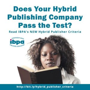 "woman reading with text ""Does your hybrid company pass the test?"""