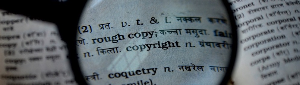 "word ""copyright"" in a dictionary"