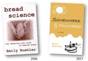 covers of two books: Bread Science, and Somewhere and Nowhere